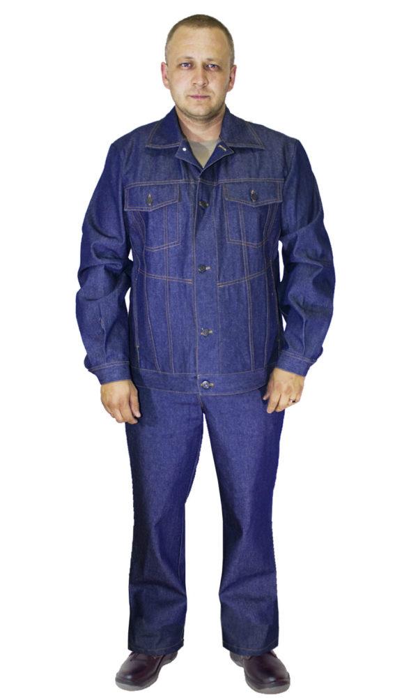Костюм джинсовый с наколенниками и налокотниками-0