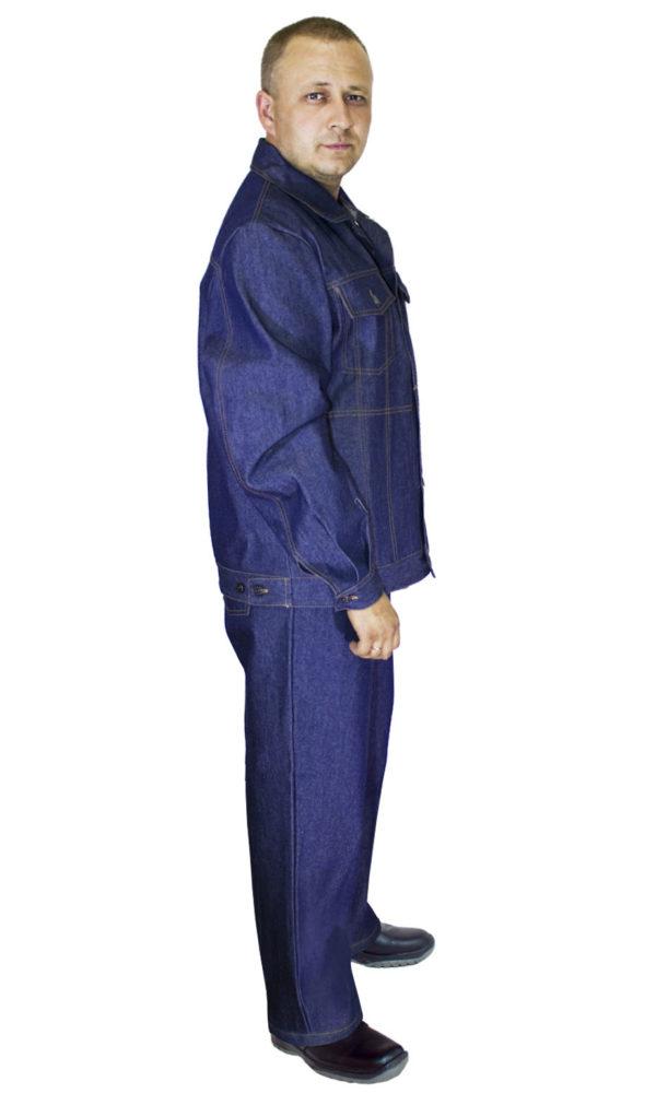 Костюм джинсовый с наколенниками и налокотниками-1164