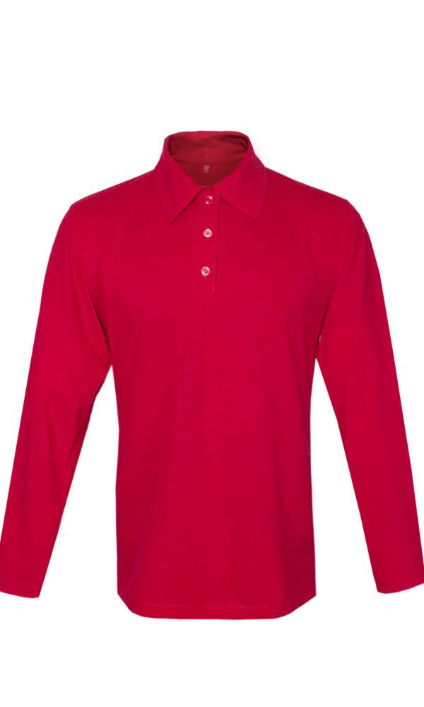 Рубашка-поло с длинным рукавом-0