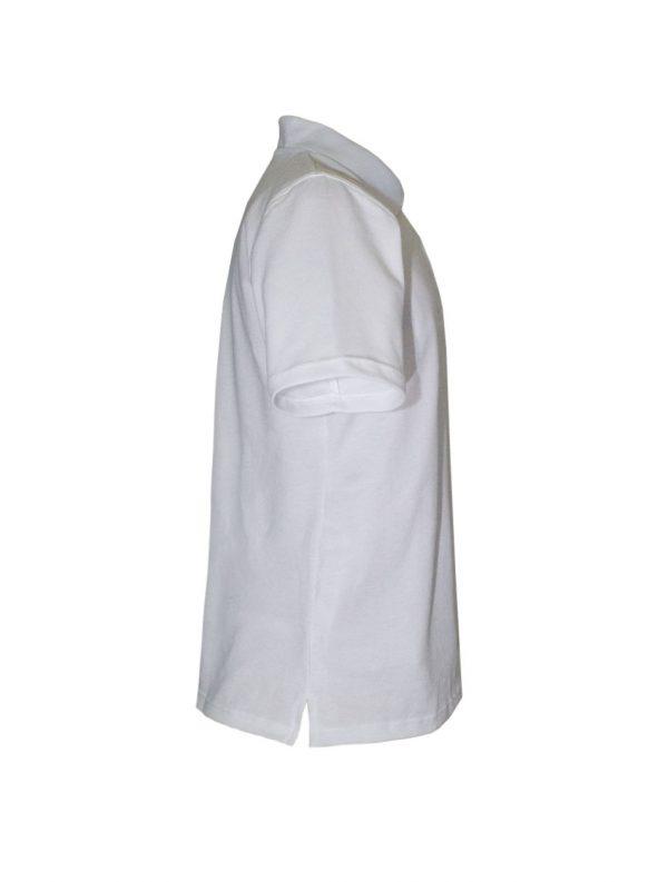 Хлопковая рубашка-поло на трех пуговицах-693