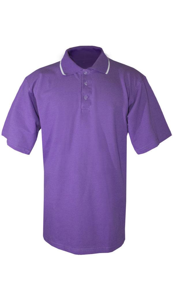 Рубашка-поло фиолетовая-0