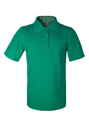 Рубашка-поло зеленая-0