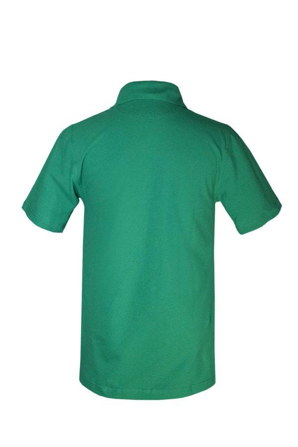 Рубашка-поло зеленая-717