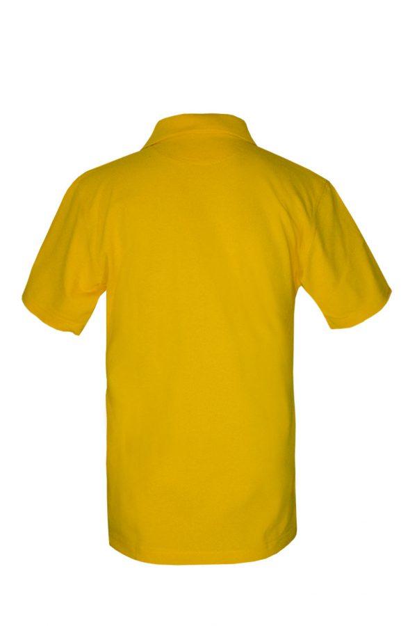 Рубашка-поло желтая-718