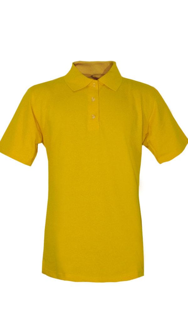 Рубашка-поло желтая-0