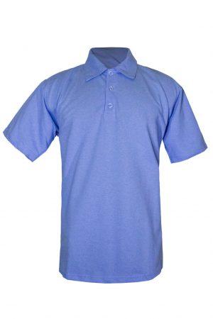 Рубашка-поло синяя-0