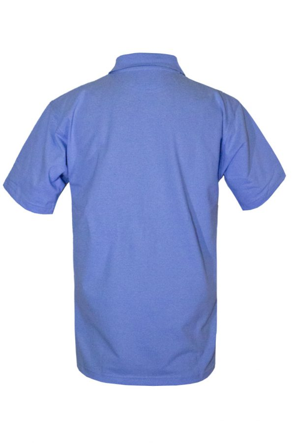 Рубашка-поло синяя-710