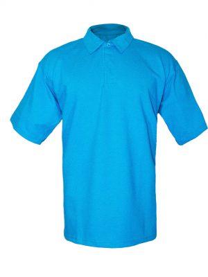 Рубашка-поло голубая-0