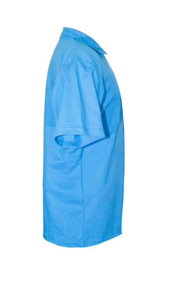 Рубашка-поло голубая-723