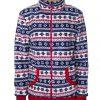 Флисовая куртка прямого силуэта, с застежкой на молнию. -762