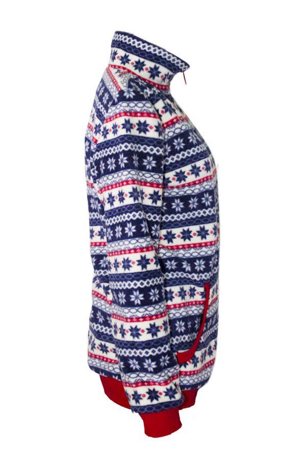 Флисовая куртка прямого силуэта, с застежкой на молнию. -760