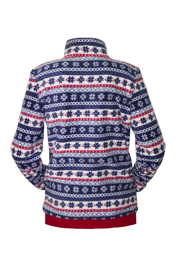 Флисовая куртка прямого силуэта, с застежкой на молнию. -759