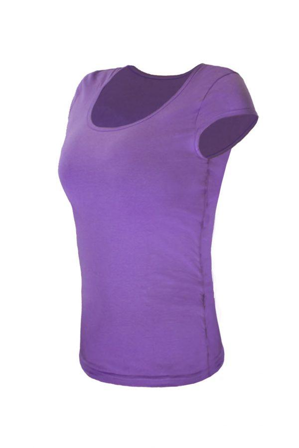 Футболка фиолетовая с лайкрой-1073