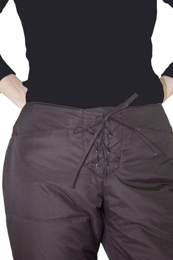 Брюки женские утепленные на завязках-1139