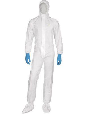 Комбинезон с капюшоном DT115, белого цвета, размер L